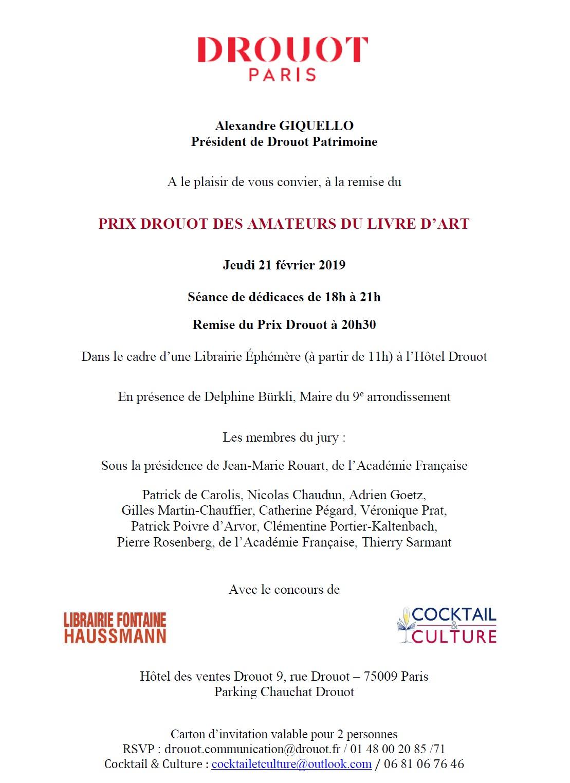 Invitation Prix Drouot 2019