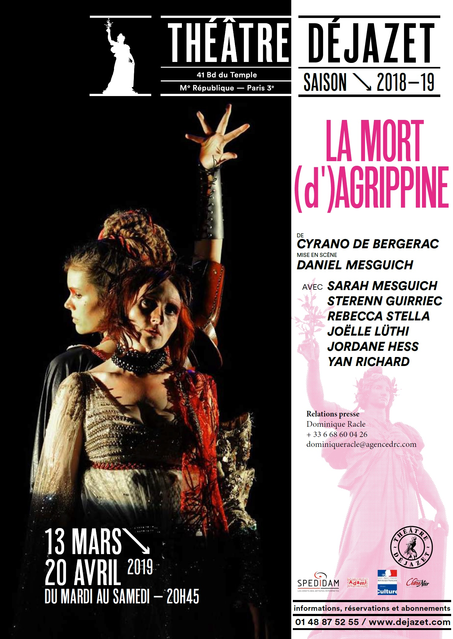 Flyer La Mort d'Agrippine 1