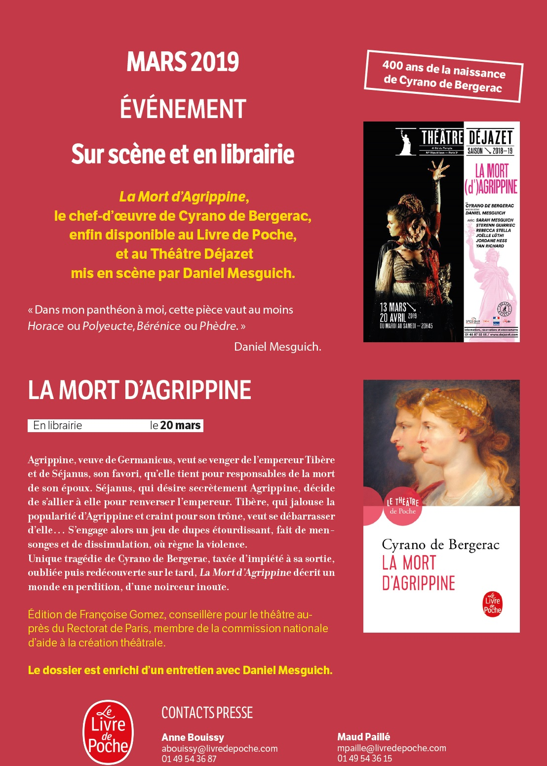 Flyer La Mort d'Agrippine