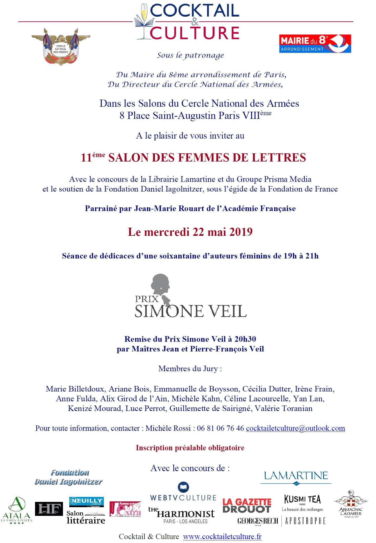 Invitation 11ème Salon des Femmes de Lettres