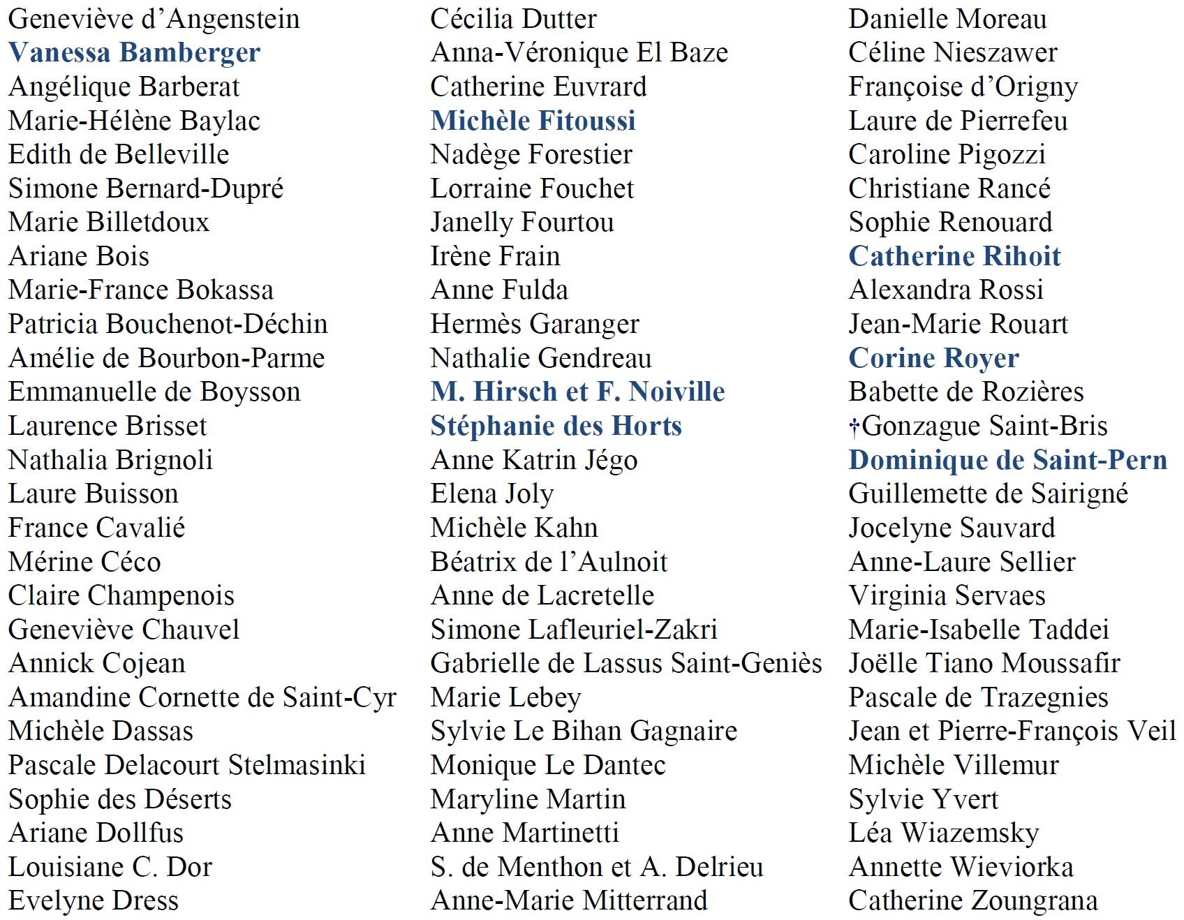 Liste des auteurs Salon des Femmes de Lettres 2019