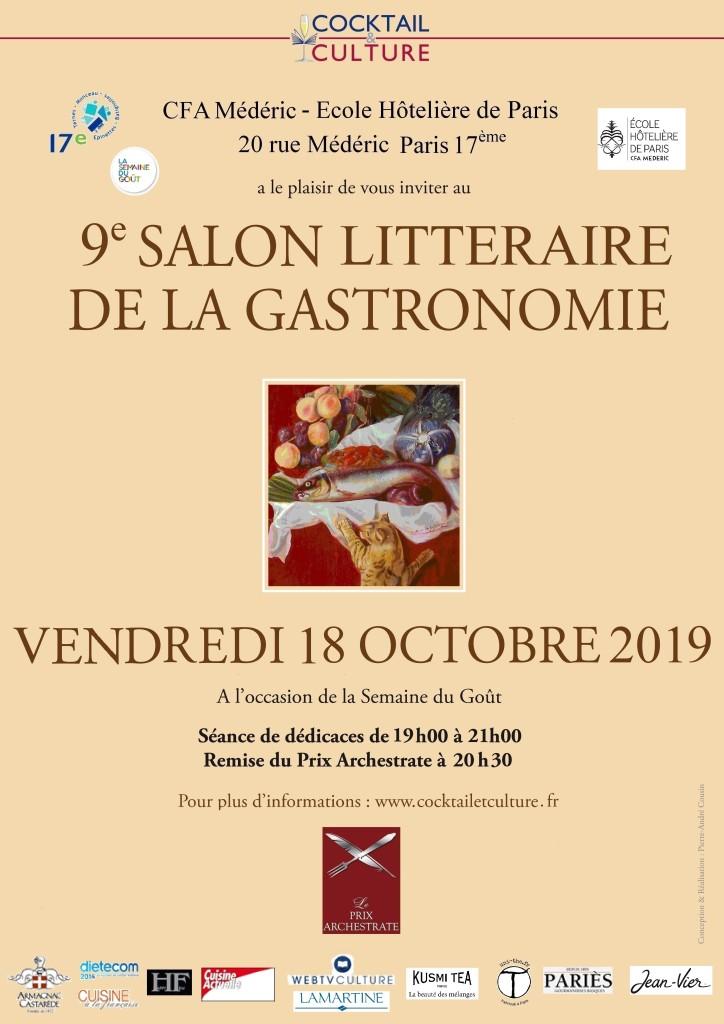 Affiche 9ème Salon Littéraire de la Gastronomie
