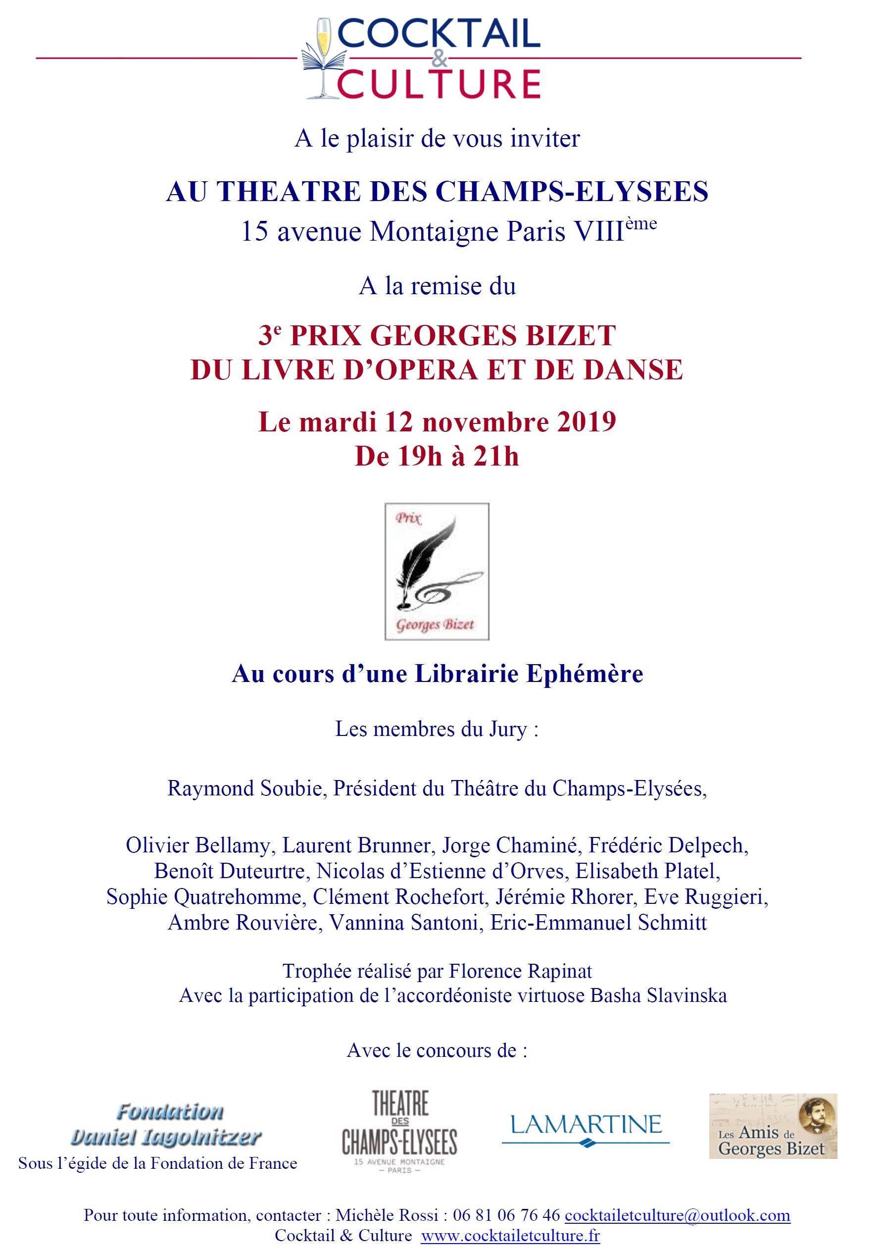 Invitation Prix Georges Bizet 2019