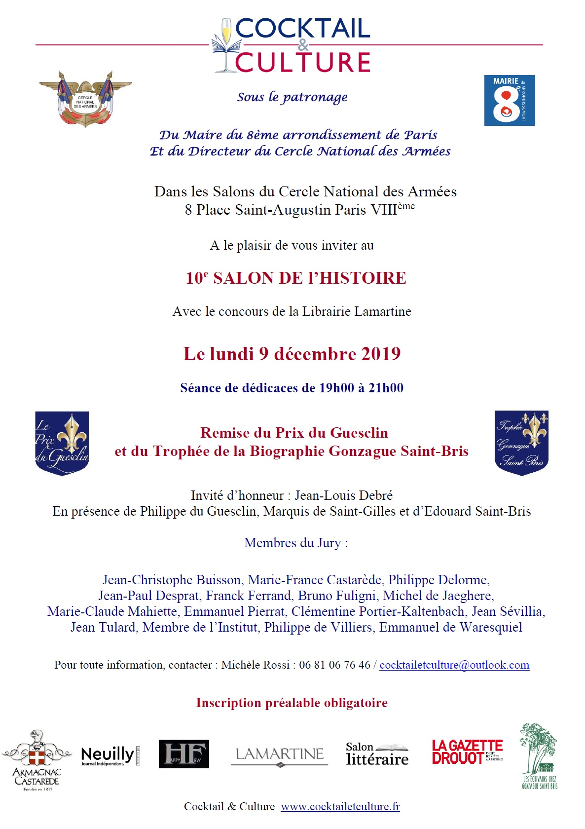 Invitation 10e Salon de l'Histoire