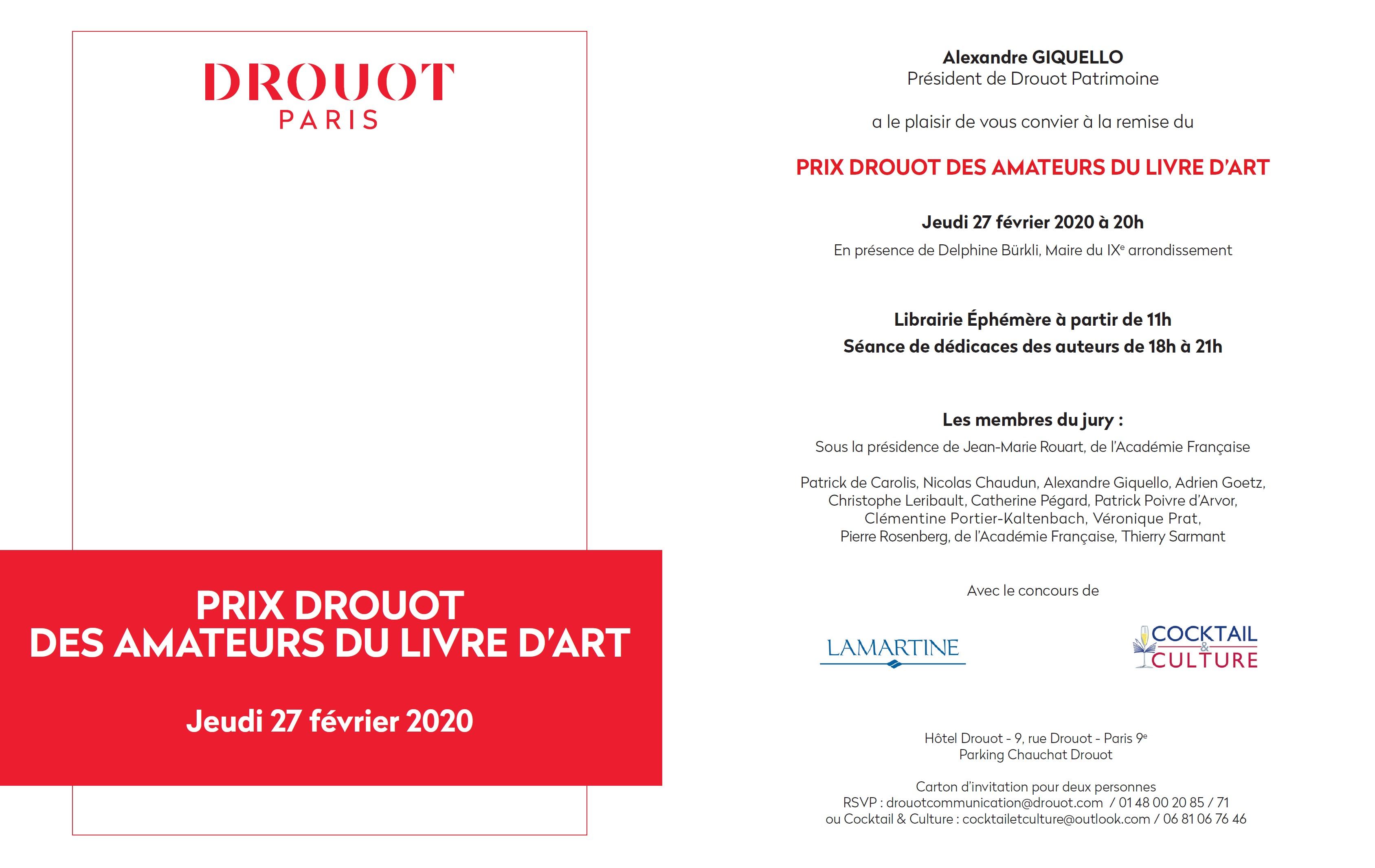 Invitation Prix Drouot 2020