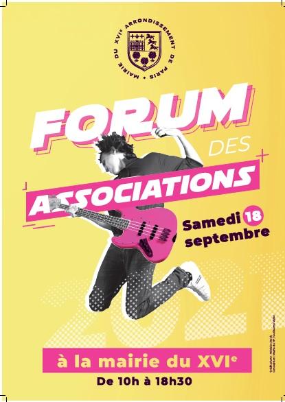 Affiche Forum des Assos Mairie 18.09.21