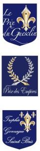 Logos Prix du Guesclin, Gonzague et Empires